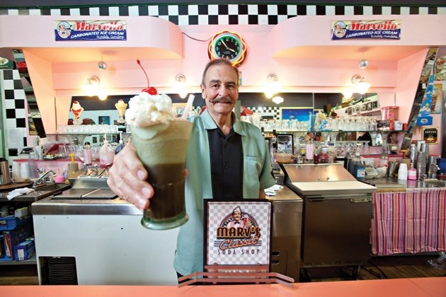 Marv' s Classic Soda Shop owner Marv Garriott will be serving up his ' 50s style food during Marv' s Rock 'n' Roll Classic on July 27 featuring