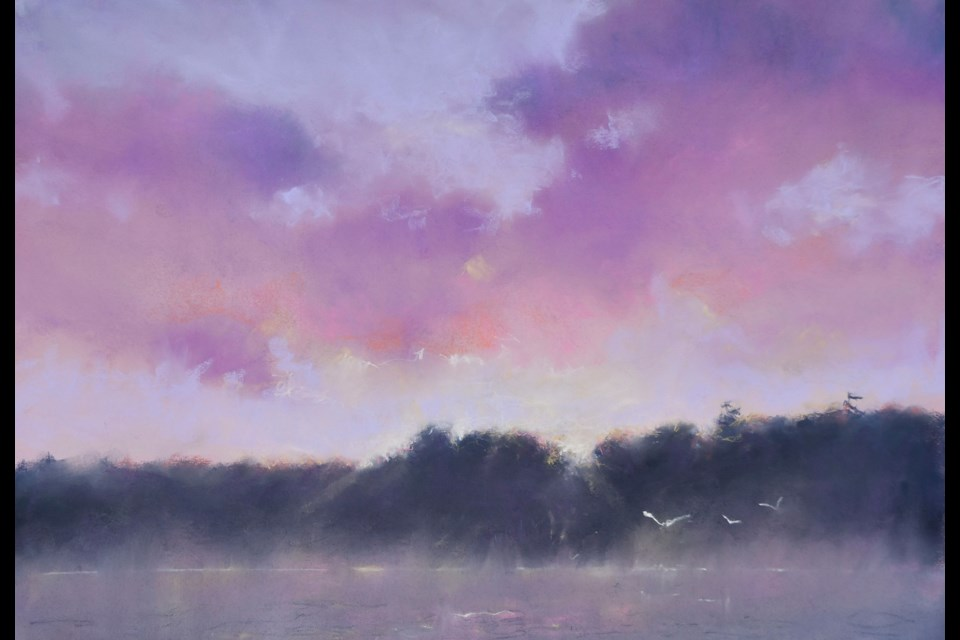 Local artist Dave Beckett is showcasing paintings focused on water and 'what is above' in his Sea and Sky show Sept. 27-29.