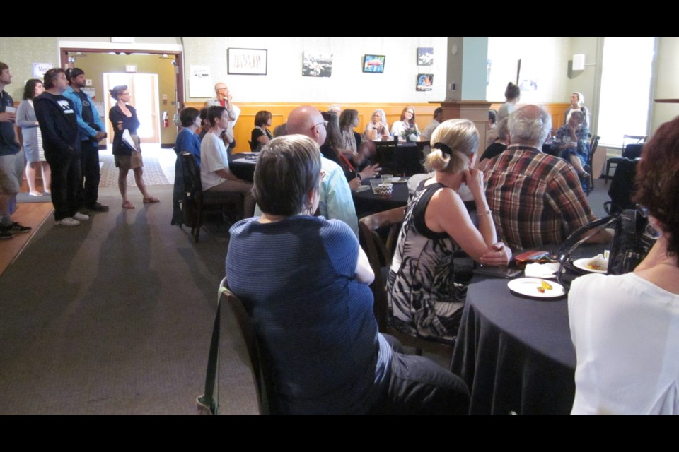 More than 50 participants gathered in the Green Room of the Orillia Opera House to discuss cultural hubs in Orillia. Anna Proctor/OrilliaMatters