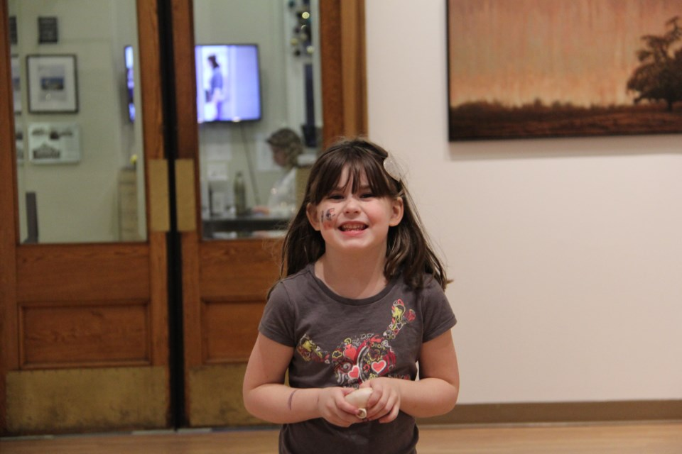Aubrey is one of the program participants at the Orillia Museum of Art & History. Friday's Drawliday Festival will help support children's programming at OMAH>