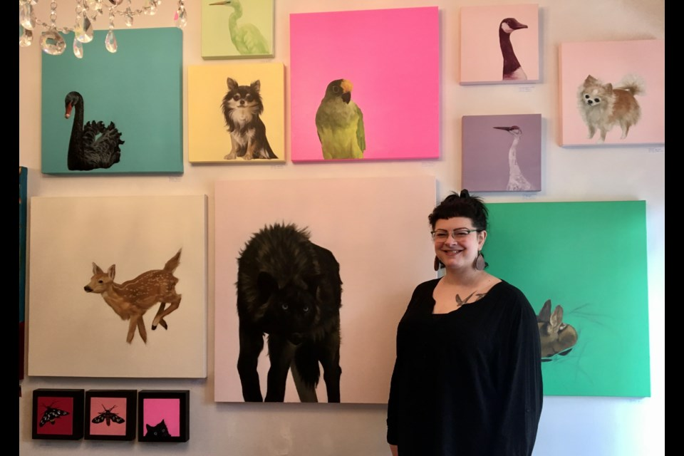 Three Crows Speak Studio in downtown Orillia presents a new guest artist exhibition by artist Melissa Wakefield. 'Presence' is on display during the month of March. Contributed photo