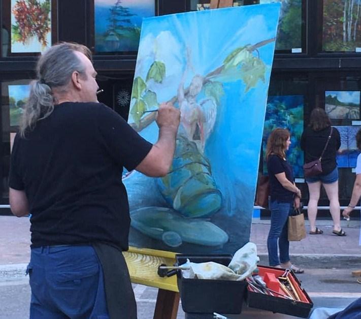 Paul Baxter at Live Painting Metamorphosis Week One Creative Nomad Studios