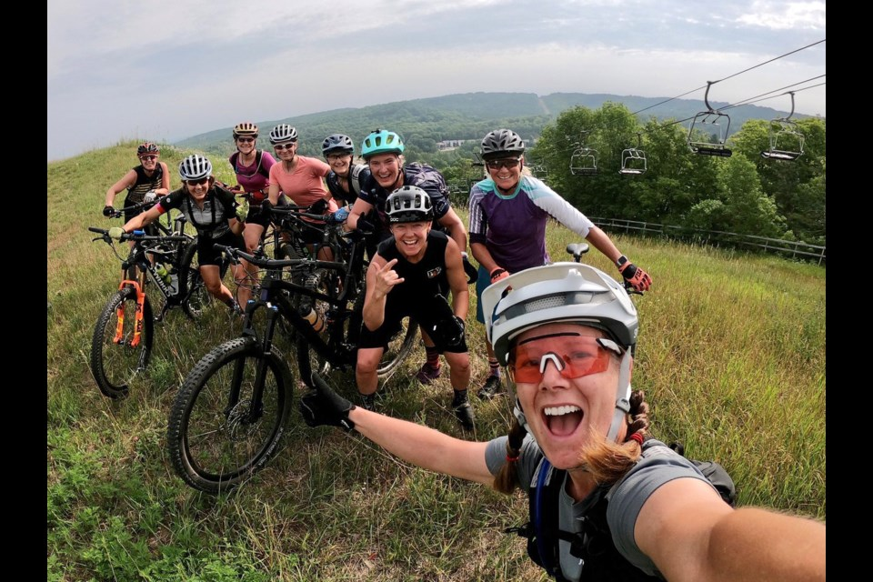 This is what the new MTB Exchange group is all about — a chance to get out with others, have fun, challenge yourself, and discover some outstanding mountain biking trails. Supplied photo