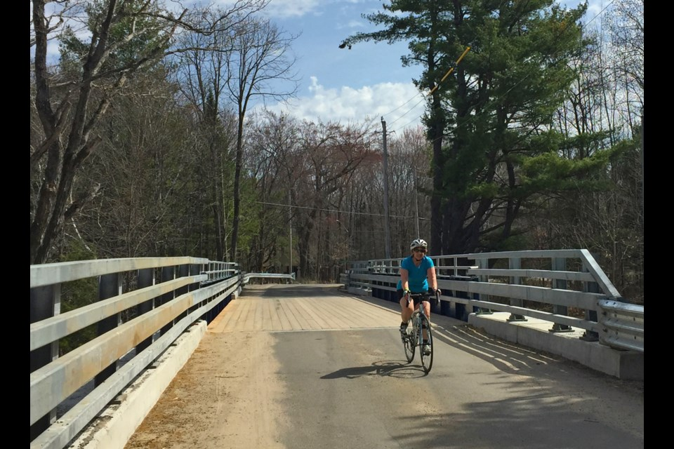 Cyclists, and others, are happy to find the bridge at Lock 42 open, after a long closure to restore the Trent-Severn Waterway bridge.