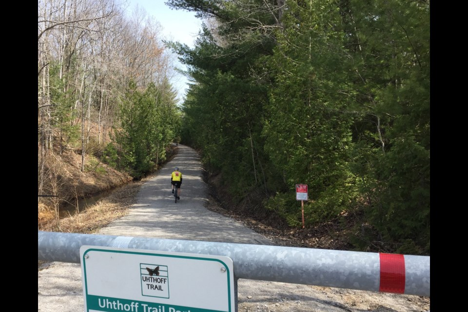 The Uhthoff Trail offers a quiet route to get back into town from Severn Township.