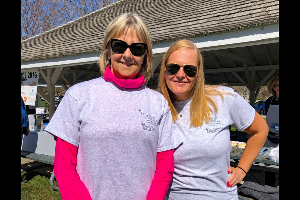 Christine Cox, right, and her mom, Judith Cox, following the 2019 Hike for Hospice, a fundraising event they participate in annually in memory of Christine's dad, Paul Cox.