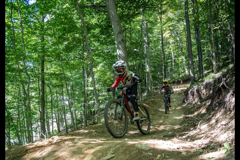 This summer, kids 5 – 12 years of age can sign up for Horseshoe Resort's mountain bike camp and have fun learning how to ride the trails.