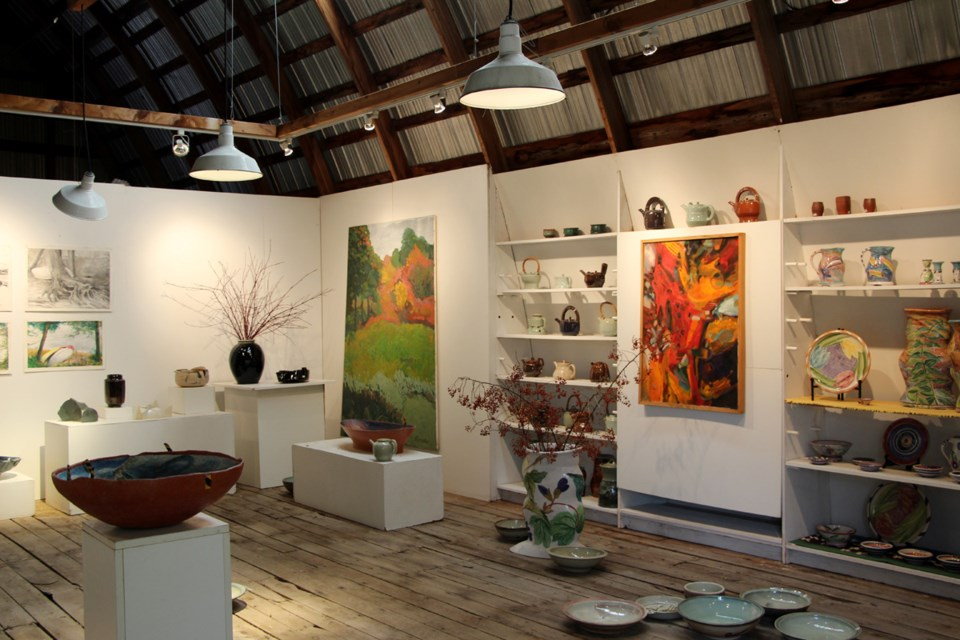 Visitors to Kerslake Pottery are often awestruck upon seeing the beautiful display of art in the barn gallery.