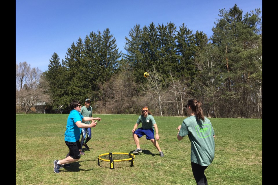 The game of Spikeball is fun and competitive, easy to learn and super portable, according to these players at Homewood Park.