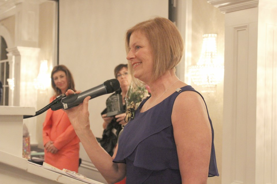 Carolyn Jones was named Nelle Carter Woman of the Year during the Orillia Business Women's Association's 27th annual awards gala Wednesday night at the Best Western Plus Mariposa Inn and Conference Centre. Nathan Taylor/OrilliaMatters
