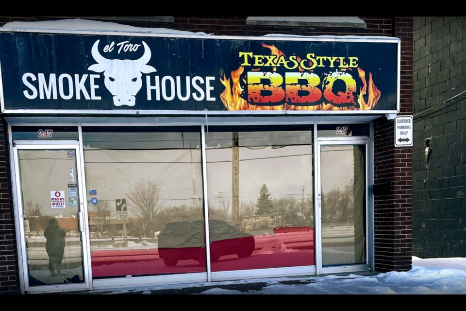 El Toro Smokehouse will open in the plaza at 247 West St. N. in Orillia.