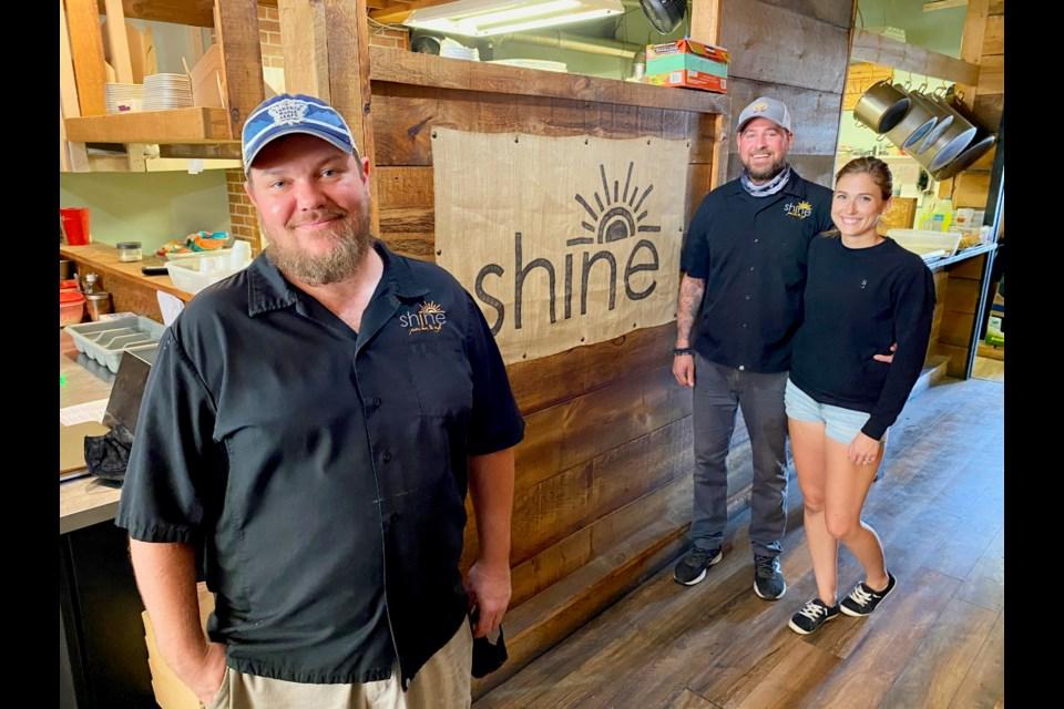 Meet the Shine team: Shawn Wilkinson, left, Alex Cherubin and Laura Cherubin.