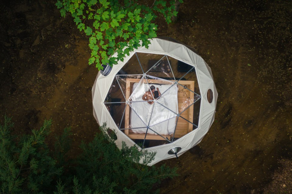 Aerial view of The Stargazer Dome