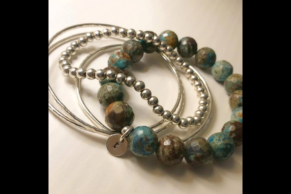These bracelets are among the unique items found at Sarahannedipity. Contributed photo