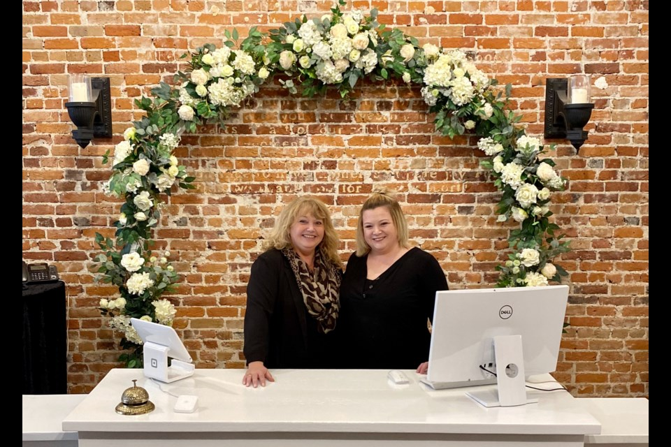 Shelby Stock and her mother, Tami Williams, are shown at the new home of StoneBridge Design Co. and Ever After Bridal Boutique, their new store in downtown Orillia. Contributed photo