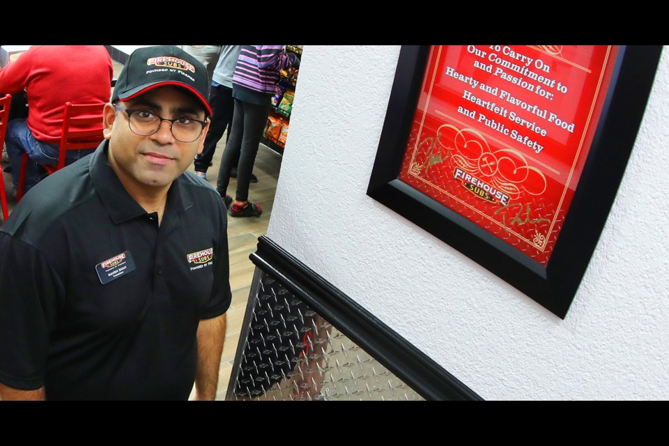 Ravish Shah and his uncle, Nilam, are getting ready to open a new Firehouse Subs location in West Orillia.