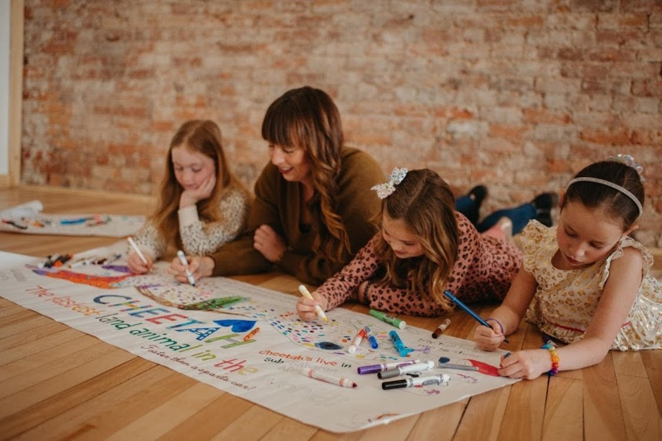 Gillian Lowry and her daughters have become entrepreneurs during the pandemic by creating LittleTigers colouring posters.