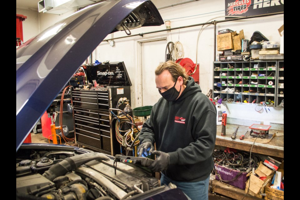 CMF Automotive Services owner, Mark Burrows, has more than 40 years of experience in the automotive industry and says he still enjoys the challenge the job presents each day.