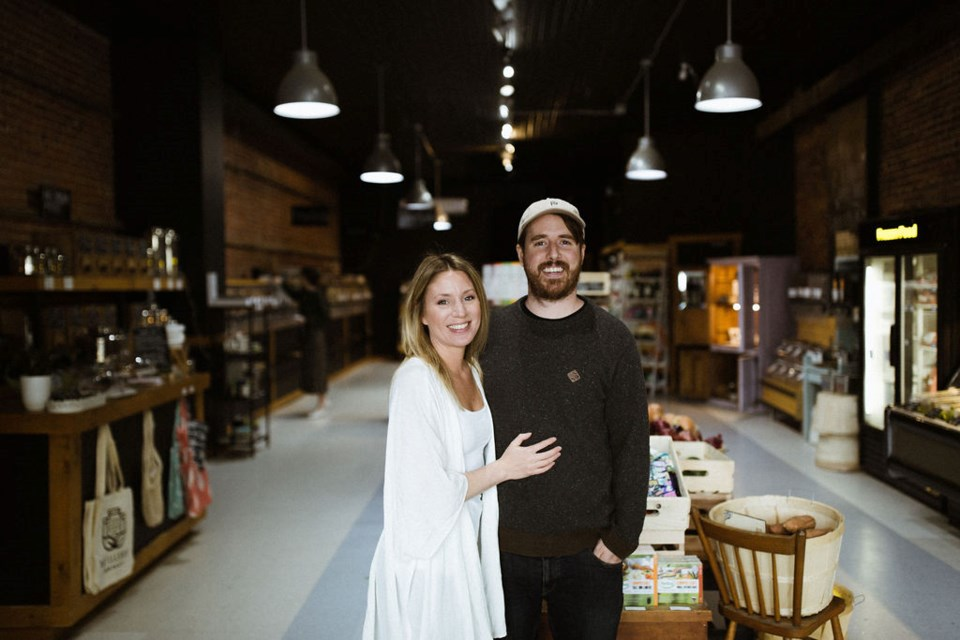 Tyler Knight and Allie Fry are proud of their zero-waste store, The Refillery District. Joanna Crichton photo