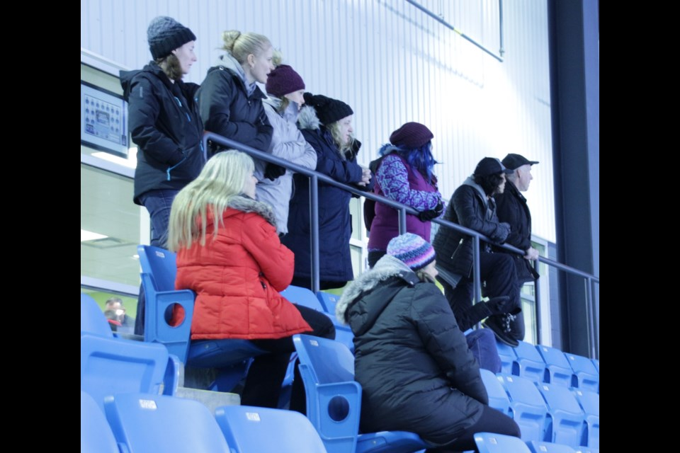 Family and friends cheered on the teams that played at the Big Brothers Big Sisters of Orillia & District Hockey Tournament Saturday at Rotary Place. Mehreen Shahid/OrilliaMatters