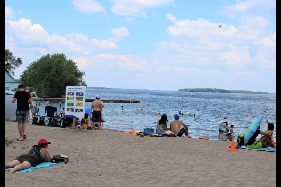 Couchiching Beach Park has been a busy spot in recent days. On Canada Day, many enjoyed the cool water of Lake Couhiching. Nathan Taylor/OrilliaMatters