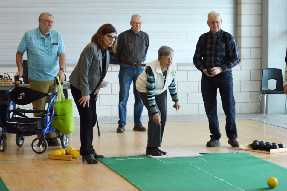 The Honourable Filomena Tassi, Minister of Seniors, (second on left) enjoys a