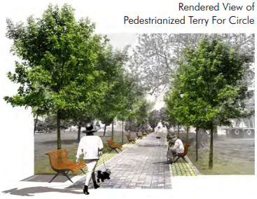 terry fox circle pedestrianized rendering