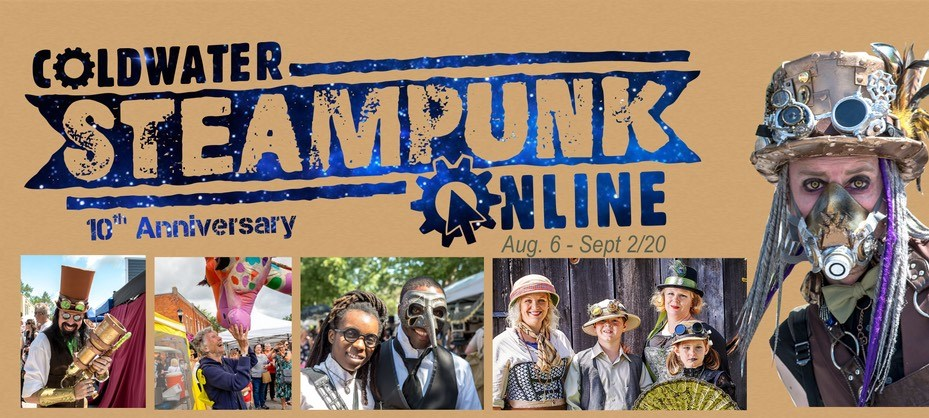 The Coldwater Steampunk Festival will be fully online this year, with some exhibits available for exploration throughout the month of August. Contributed photo