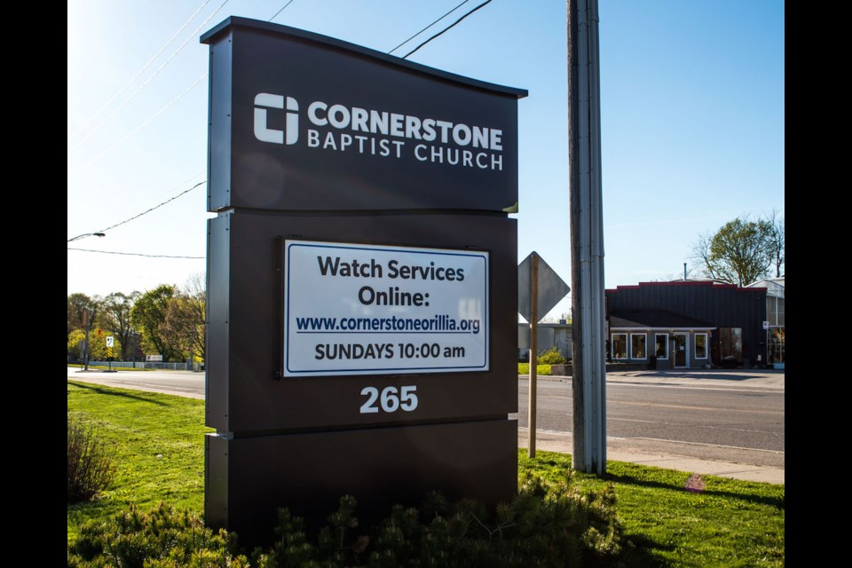 Cornerstone Baptist Church has actually grown its church community through the pandemic. The average attendance during a Sunday service was around 650 people before the pandemic, and now more than 900 people are tuning in to watch virtually. Tyler Evans/OrilliaMatters