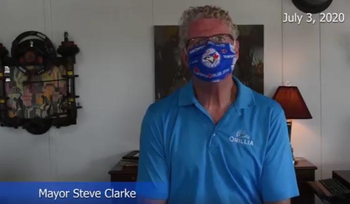 mayor steve clarke with mask