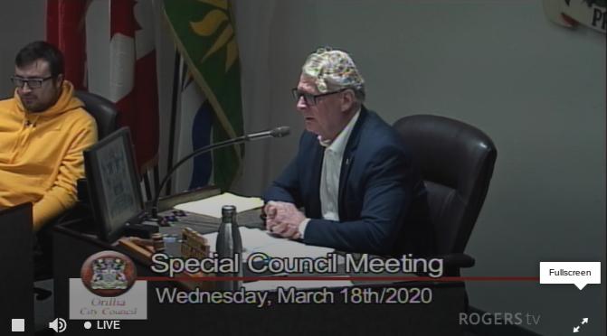steve clarke at emerg council meeting