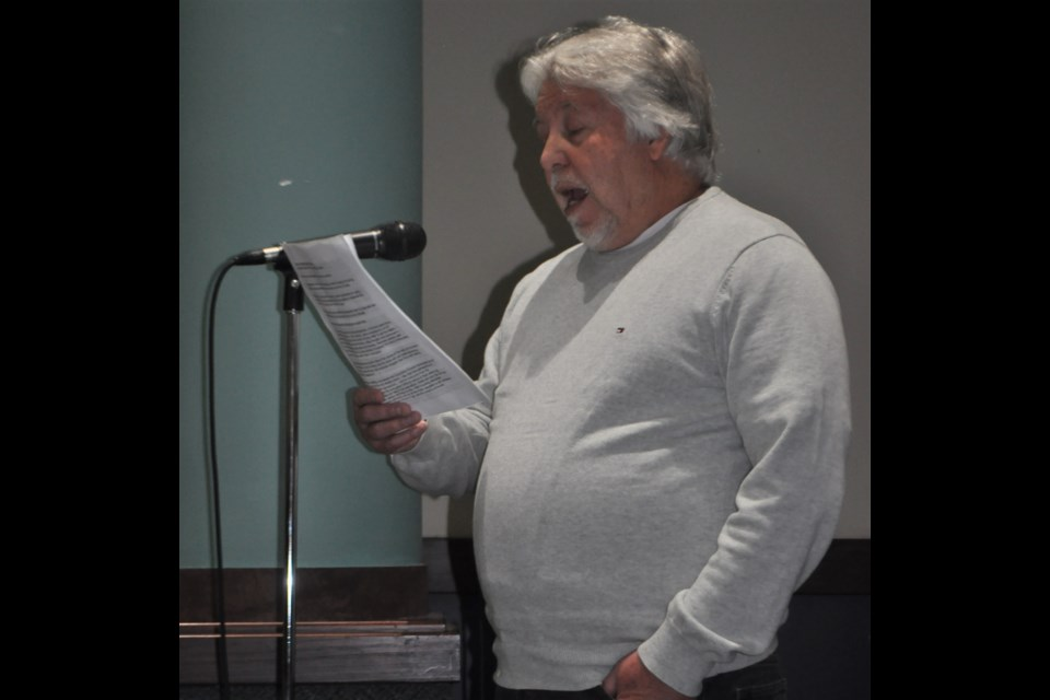 Rick Evans told council that once they build on parkland, they will never get it back during a public meeting at city hall Friday afternoon. Andrew Philips photo/Orillia Matters