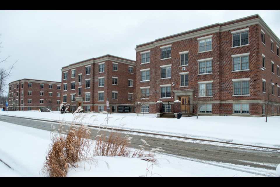 The residences on campus at Georgian College in Orillia are at just above 50% capacity for the winter semester.