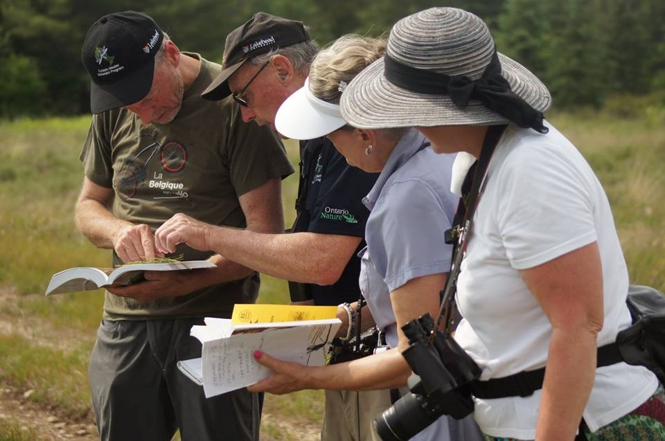 Bob Bowles, second from left, helps students in the Ontario Master Naturalist course. Registration is now open for the spring course.