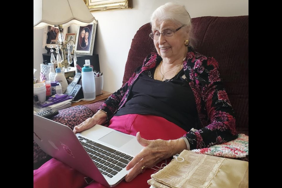 Flo Pengilly, 97, is one of the seniors living at the Atrium Retirement Residence who has been staying connected with local youth during the stay-at-home order through the OSS Students for Change program.