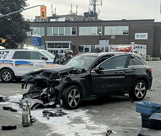 car crash at west and coldwater