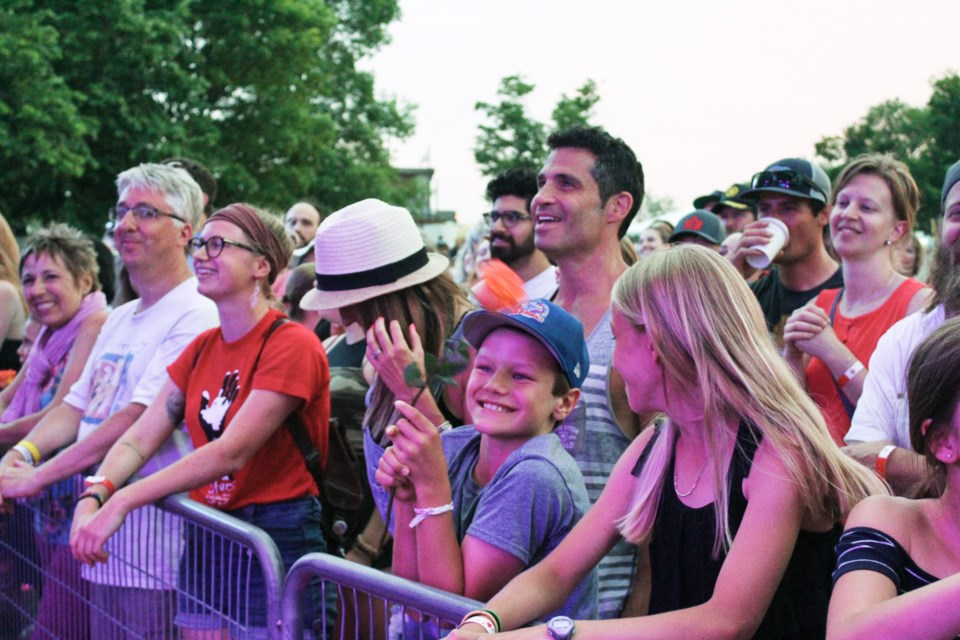 Those were the days: Large crowds and smiling faces at the 2019 Mariposa Folk Festival. Nathan Taylor/OrilliaMatters file photo