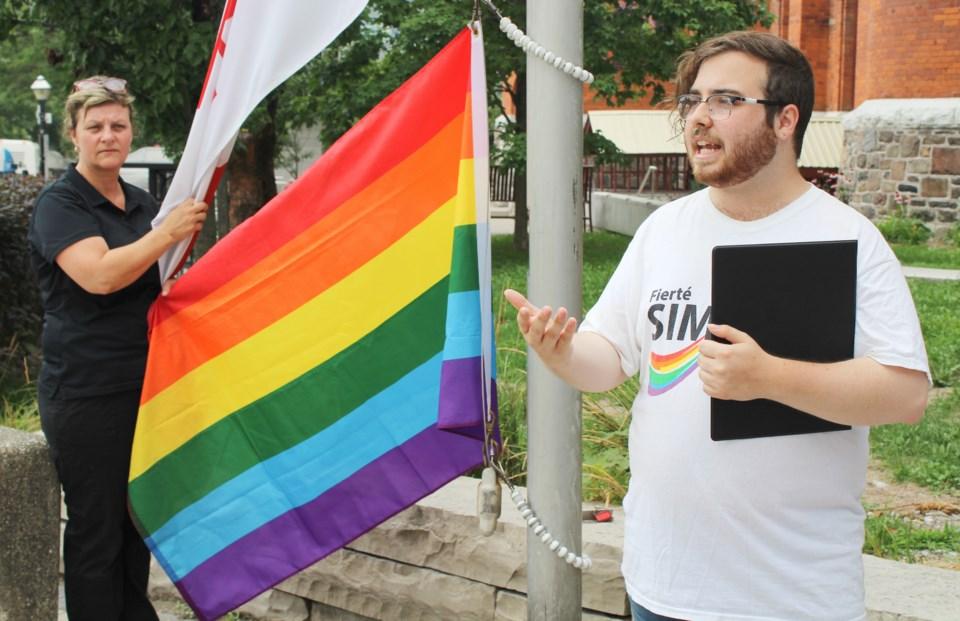 2018-08-07 Pride flag Orillia 1