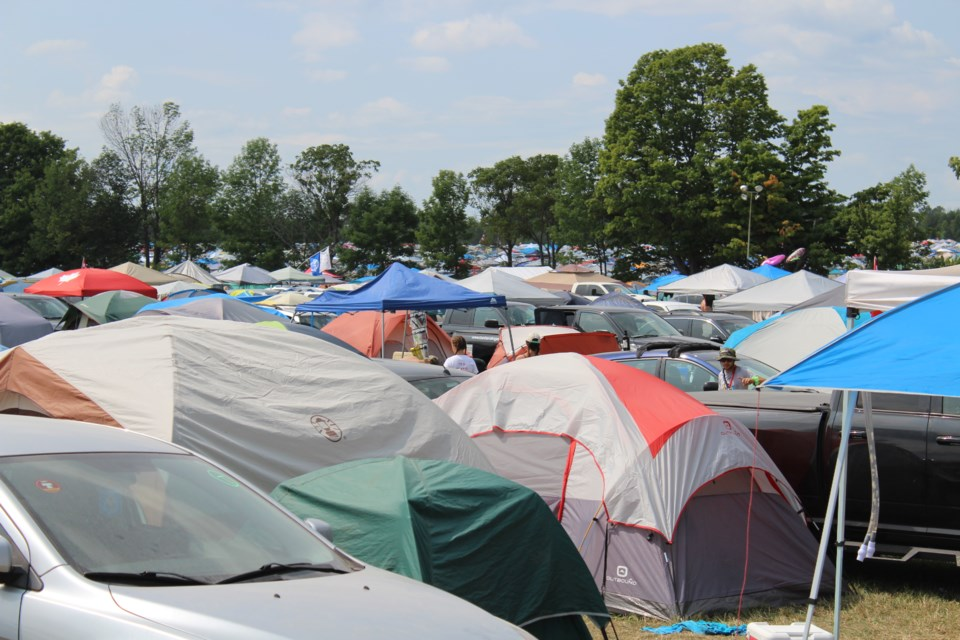 Tents can be seen as far as the eye can see during Boots and Hearts Music Festival at Burl's Creek Event Grounds in Oro-Medonte last summer. Nathan Taylor/OrilliaMatters File Photo