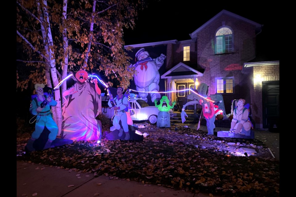 Who are you going to call?The Ghostbusters are in a battle withsome of the phantasms on Ashton Street. Tyler Evans/OrilliaMatters.
