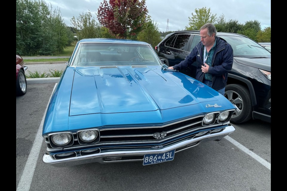 Jeff Clark drove his 1969 Chevrolet Chevelle from just south of Ottawa to Orillia for Friday's Maple Mille, a three-day journey.