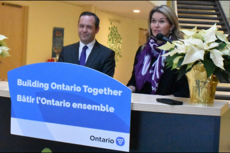 Simcoe North MPP Jill Dunlop and Barrie-Springwater-Oro-Medonte MPP Doug Downey announced Friday that Orillia has been chosen as home of the Couchiching Ontario Health Team. Dave Dawson/OrilliaMatters