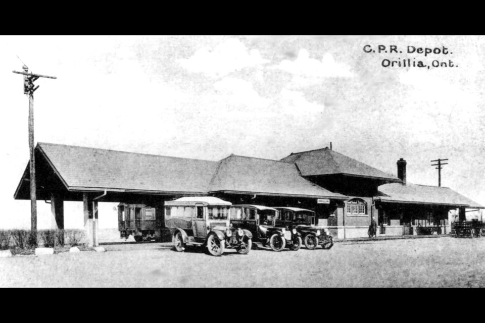 The C.P.R Depot is shown circa 1930.