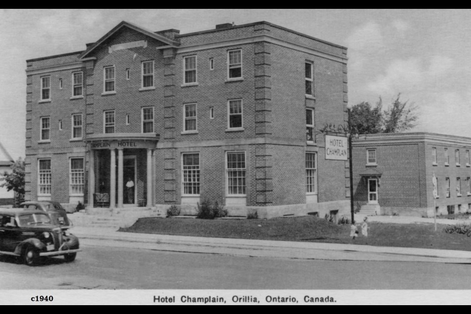 The Champlain Hotel, circa 1940. It opened in 1932. In more recent years, it has been purchased and revitalized by new owners.