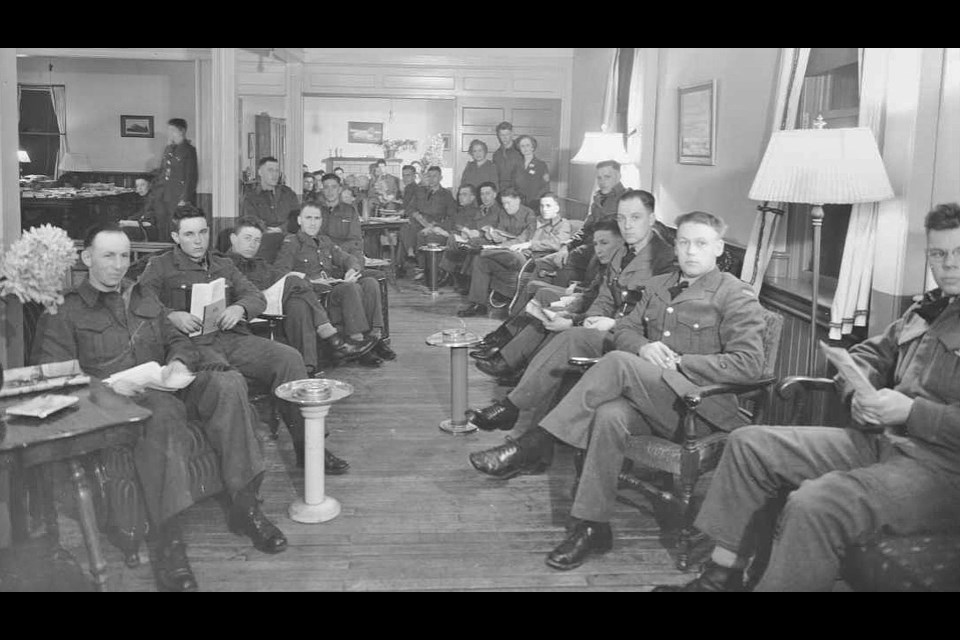 The Maple Leaf Club's lounge was a popular spot for soldiers stationed in Orillia during the Second World War. Contributed photo