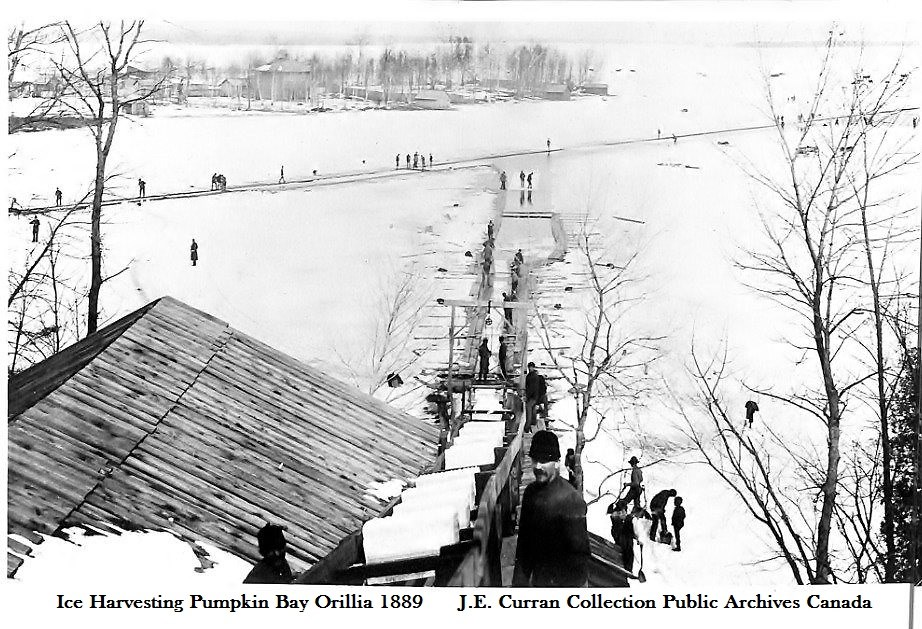 As you can see, when it was ice harvesting time on Pumpkin Bay in 1889, things were hopping!