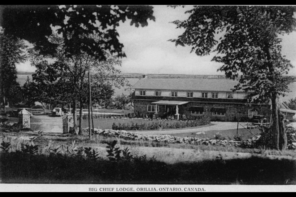 Big Chief Lodge opened in 1926 on what is now called Big Chief Road, just north of Orillia.
