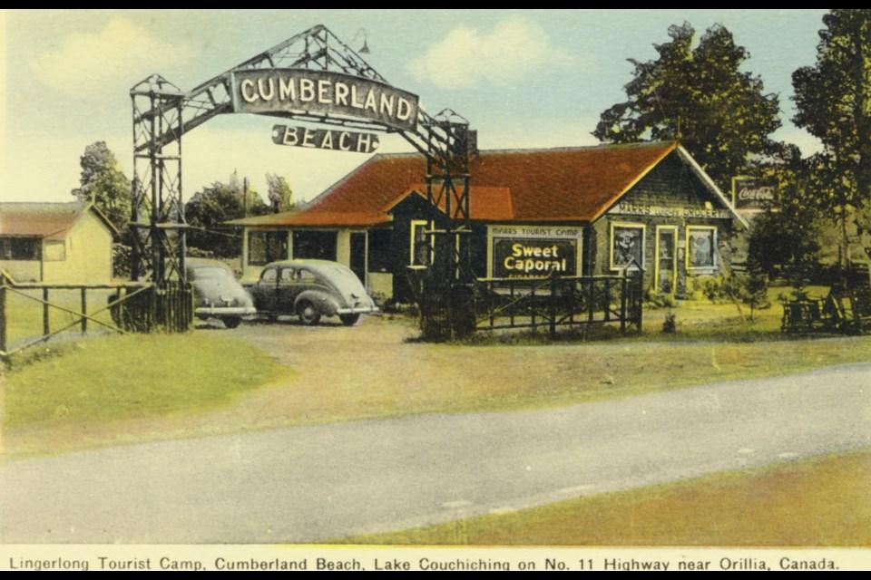 The Lingerlong Tourist Camp, circa 1945.