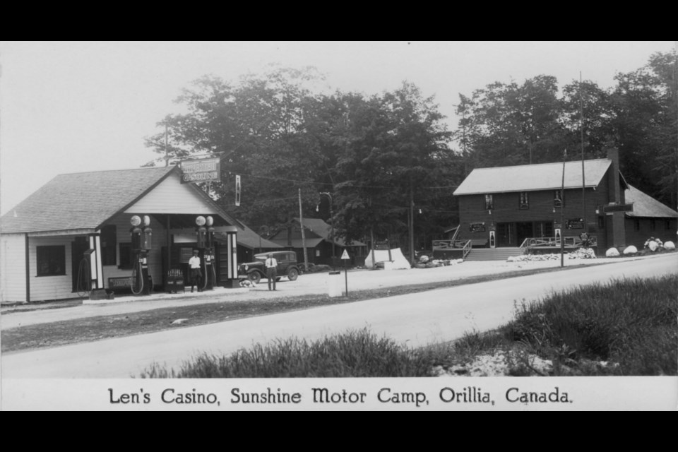 This is a postcard showing Len's Casino, circa 1930.