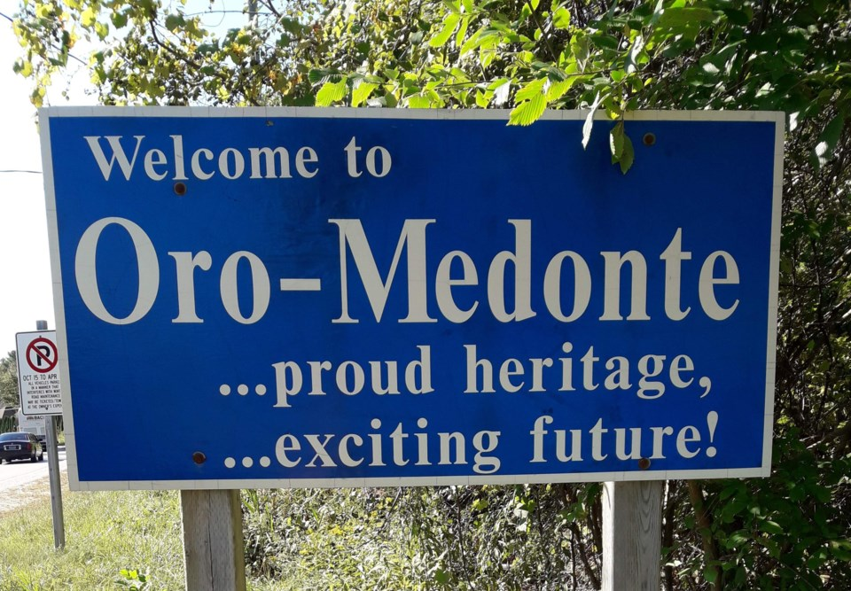 Welcome to Oro-Medonte sign